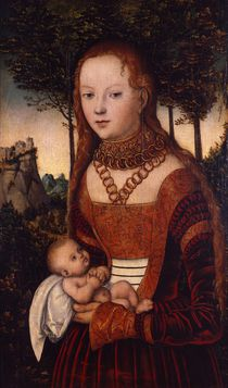 Young mother with child by Lucas, the Elder Cranach