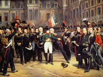 Les Adieux de Fontainebleau by Emile Jean Horace Vernet