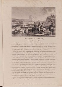 The Battle of Jena, 14th October 1806 by French School