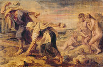 Deucalion and Pyrrha Repeople the World by Throwing Stones Behind Them von Peter Paul Rubens