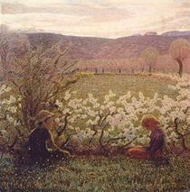 Flowering Meadow by Giuseppe Pellizza da Volpedo
