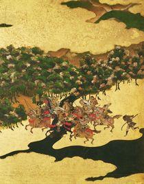 Battle of Hogen in 1156, Momoyama Period by Japanese School