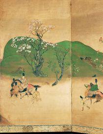 Shogun touring in spring, Edo Period by Japanese School