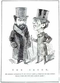 George Grossmith Jnr. and Richard D'Oyly Carte at 'The Savoy' von English School