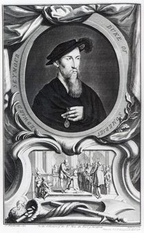 Edward Seymour, 1st Duke of Somerset engraved by Jacobus Houbraken von Hans Holbein the Younger