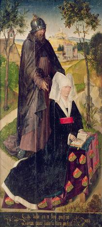 Guillemette de Montagu with Saint Guillaume von Rogier van der Weyden