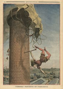 Dreadful parachute drop, Viola Spencer by French School
