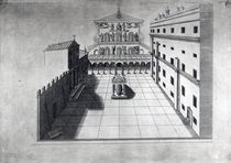 The Belvedere Court in Old St. Peter's Rome by Giovanni Battista Piranesi