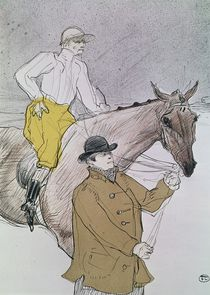 The jockey led to the start von Henri de Toulouse-Lautrec
