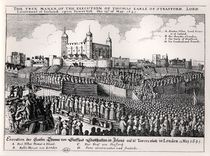 Execution of Strafford, May 12 1641 by Wenceslaus Hollar