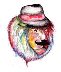 Stylish Lion by Jessica May