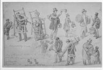 London street traders, 1830-40 by George the Elder Scharf