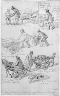Street Traders, London, 1842 by George the Elder Scharf