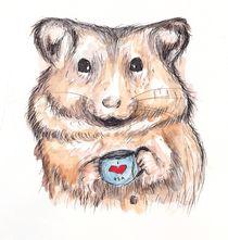I Heart Tea Hamster von Jessica May