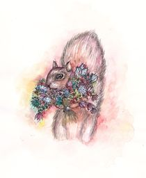 Squirrel Bouquet by Jessica May