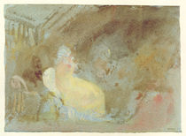 Interior at Petworth with seated figure
