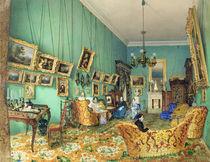 Interior of a living room, 1847 by Luigi Premazzi