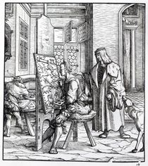 The Emperor in the Artist's Studio by Hans Burgkmair