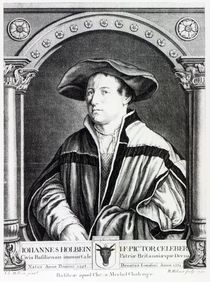 Hans Holbein the Younger, engraved by Bartholomaus Huebner von Hans Holbein the Younger