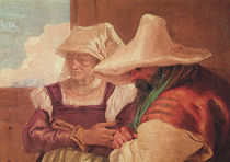 Detail of the shepherds from Angelica and Medoro with the Shepherds by Giovanni Battista Tiepolo