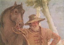 Detail of the horseman from Angelica Nursing the Wounded Medoro by Giovanni Battista Tiepolo