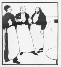 Garcons de Cafe, illustration form 'The Yellow Book' by Aubrey Beardsley