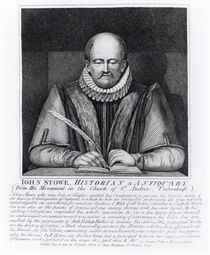 John Stowe, portrait from his monument at the Church of St. Andrew von English School
