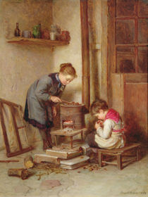 Roasting Chestnuts, 1882 by Pierre Edouard Frere