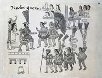 The last Aztec Emperor Cuauhtemoc surrenders by Spanish School