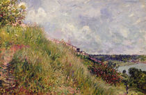 The Seine, view of the slopes of By by Alfred Sisley