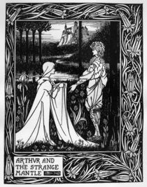 Arthur and the strange mantle by Aubrey Beardsley