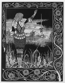 How Sir Bedivere Cast the Sword Excalibur into the Water by Aubrey Beardsley