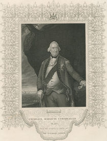 Charles Cornwallis, from 'Gallery of Historical Portraits' von John Singleton Copley