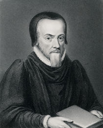 Richard Hooker , engraved by Edward Finden by Wenceslaus Hollar