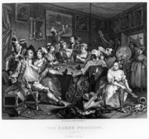 The Orgy, plate III from 'A Rake's Progress' von William Hogarth