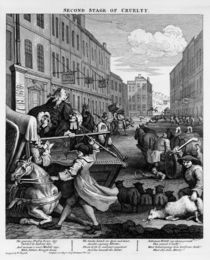 Second stage of Cruelty, 1751 by William Hogarth