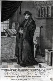 Desiderius Erasmus, 'Restorer of the Latin language' von Dutch School