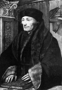Portrait of Erasmus von Hans Holbein the Younger