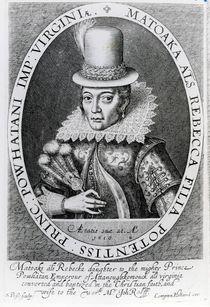 Pocahontas, 1616 by Simon de Passe