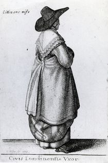 Wife of a Citizen of London by Wenceslaus Hollar