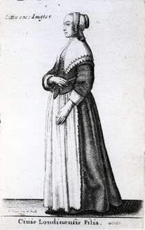 London Citizen's Daughter, 1643 by Wenceslaus Hollar