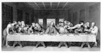 The Last Supper, engraved by Frederick Bacon von Leonardo Da Vinci
