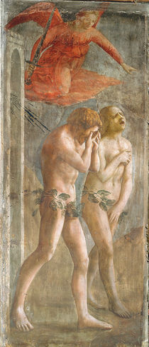 Adam and Eve banished from Paradise by Tommaso Masaccio