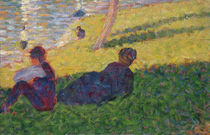 Seated man and reclining woman by Georges Pierre Seurat