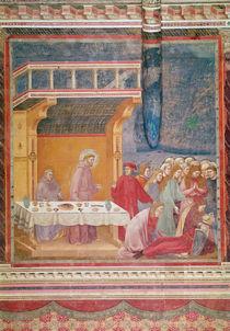 Saint Francis predicts the death of a Knight in Celano von Giotto di Bondone