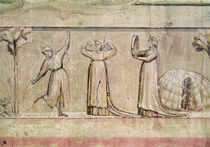 Justice, detail of the dancers by Giotto di Bondone