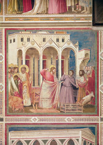 Jesus Chasing the Merchants from the Temple by Giotto di Bondone