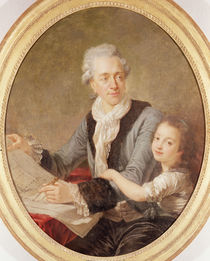 Portrait of the architect Ledoux and his daughter von French School
