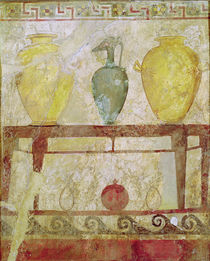 Funerary plaque with an offering of vases by Greek