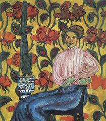 Portrait of Varvara Petrovna Vinogradova von Ilya Ivanovich Mashkov